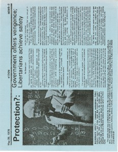 thumbnail-of-Flyer -- Newspaper article on LeFevre's 1978 Protection Speech